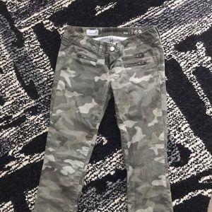 Gap 1969 camo jeans.